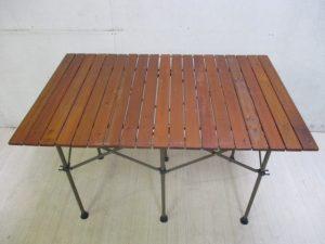 ガーデンウッドロールテーブル6